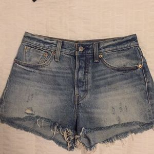 Levi's Button Up Jean Shorts